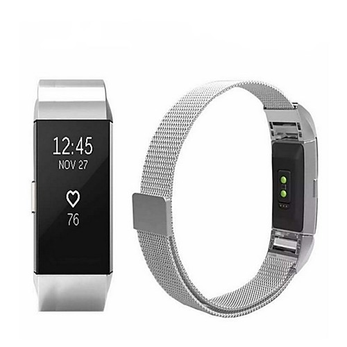 Watch Band for Fitbit Charge 2 Fitbit Sport Band / Milanese Loop Stainless Steel Wrist Strap 2