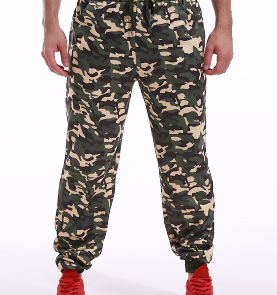 Men Casual Camouflage Gym Tapered Pants Sweatpants 2