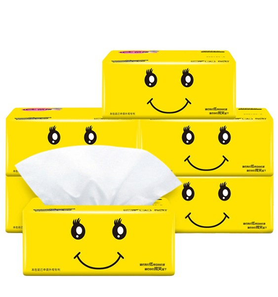 30 pcs/ctn Virgin Wood Pulp High Quality White Colored Facial Tissue Toilet Paper 2