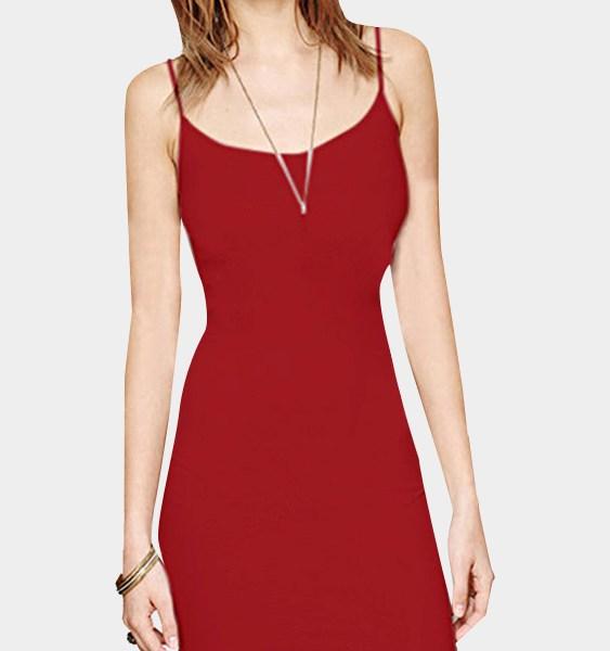 Red Cami Bodycon Mini Dress 2