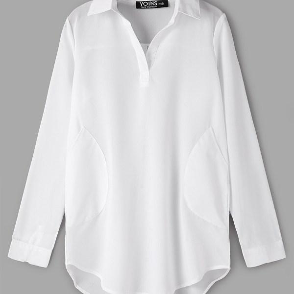 White Chiffon Dress With Irregular Hem 2
