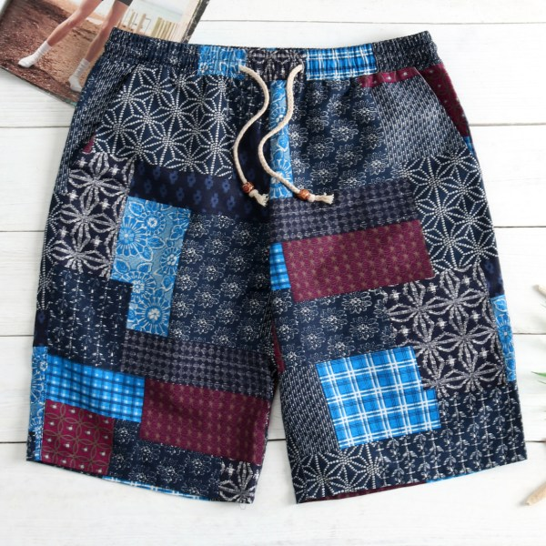 Summer Quick Dry Comfortable Elastic Swimsuit Men's Beach Middle Shorts 2
