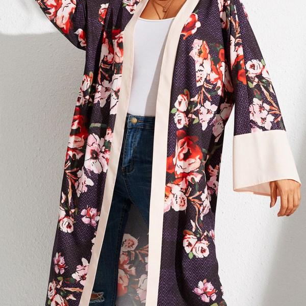 YOINS Multicolor Random Floral Open Front Cardigan 2
