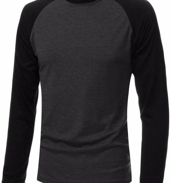 Men Color Block Splice T-Shirt 2