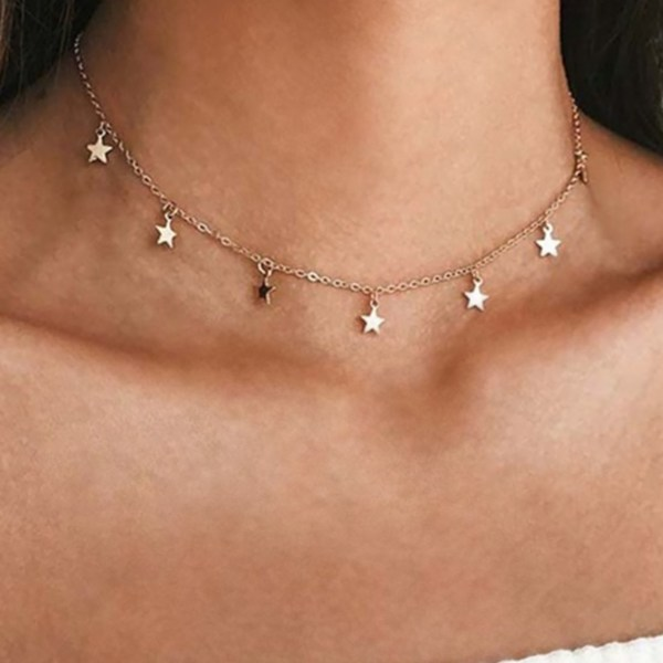 Gold Star Chain Necklace 2