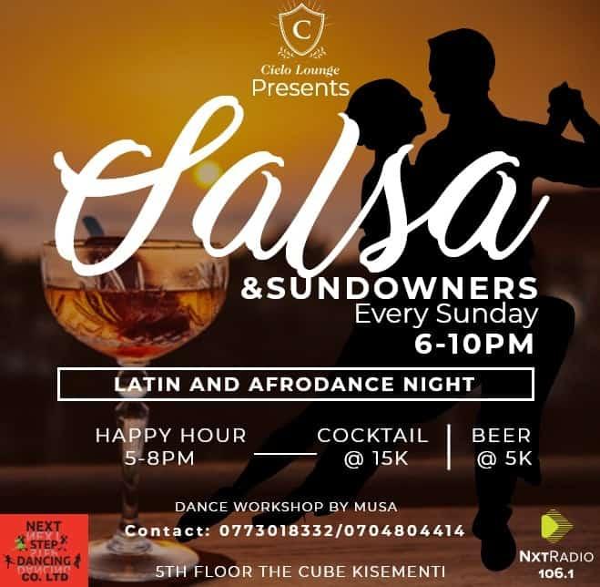 Salsa and Sundowners Every Sunday