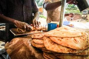 Chapatis and Rolex food