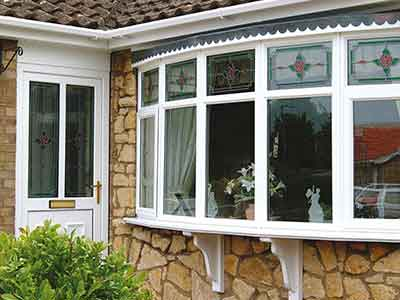 PVCu bay window installation