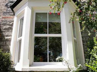PVCu sash window installation