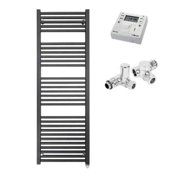 LAUREL Square Tube Heated Towel Rail / Warmer, Black