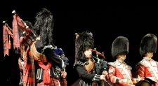 Bagpipes of the Band of The Royal Regiment of Scotland also performed.