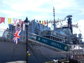 The British Navy was represented, too.