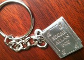 A keyring (my tree has lots of keyrings) from the Poe House in Baltimore.