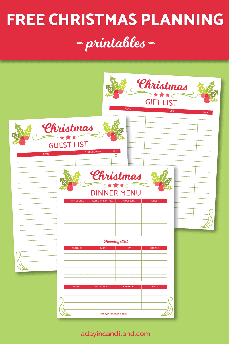 Christmas Planning List With Printables A Day In Candiland