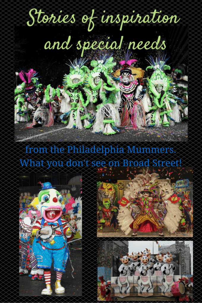 A blind and autistic man is completing his 25th strut in the Mummers Parade, and the parade will also welcome two new Mummers, both with disabilities. Great inspiring stories!
