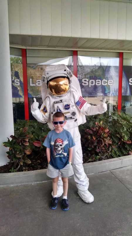 boy and astronaut