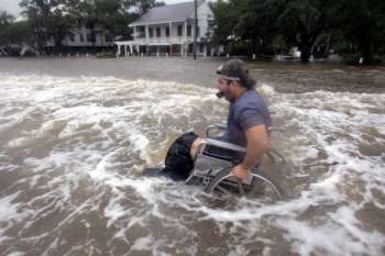 {Hurricane Harvey} how to help disabled people and children