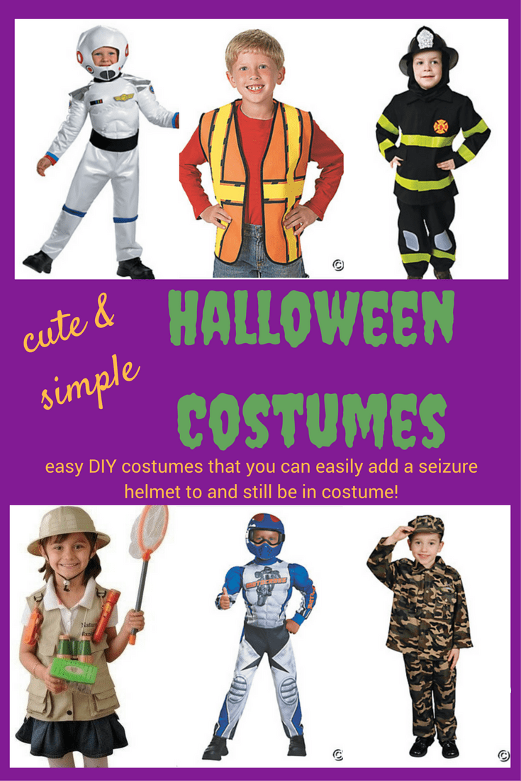Struggling to find a cute Halloween costume that includes a seizure helmet or wheelchair, and you aren't super crafty? Check out these simple ideas!