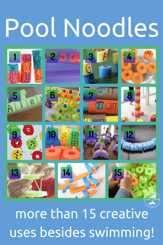 More than a dozen creative uses for pool noodles. Fun uses for noodles, creative, educational, learning!