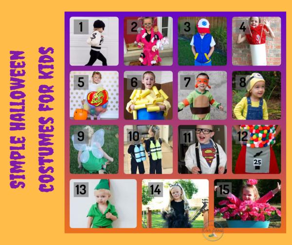 simple DIY halloween costume kids
