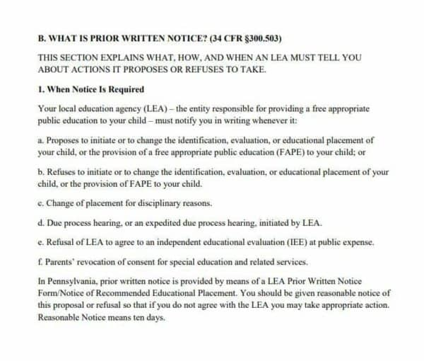 Prior Written Notice PWN: The little known game-changer in the IEP process.