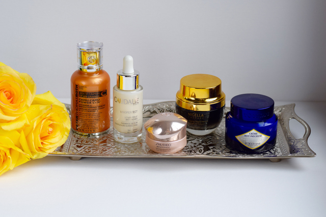 Skincare Routine; Peter Thomas Roth; Camu Camu; Caudalie Vinoperfect; Shiseido; Nigella Therapy; L'Occitane; Nighttime Routine; Facial; Skincare