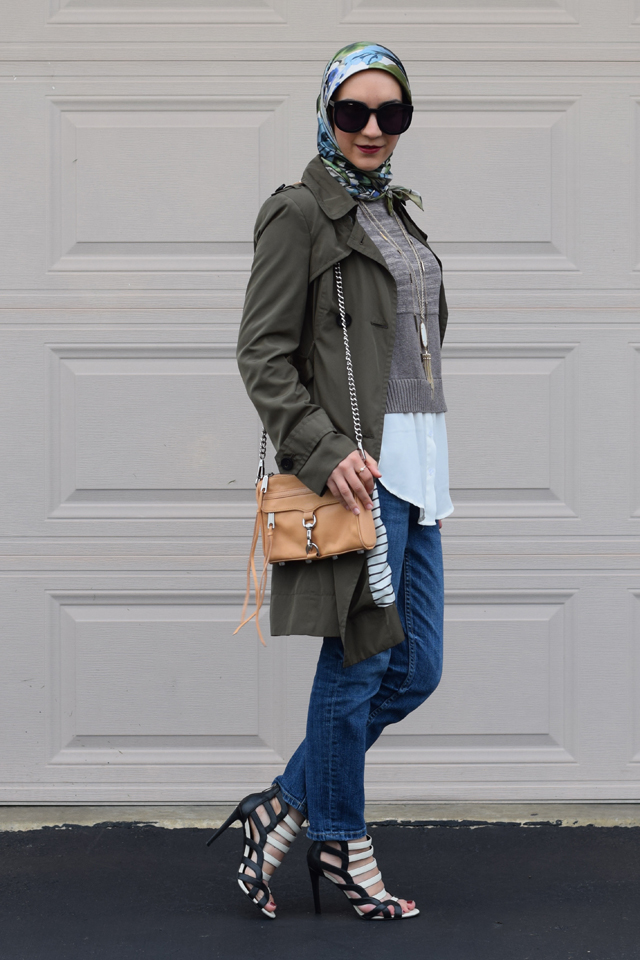 A Day In The Lalz; Fashion Blog; Fall Trends; Fashion Style; Fashion Trends; Fall Fashion; Olive Trench Coat; Boyfriend Jeans; Karen Walker Super Duper; Sweater; Kendra Scott Necklace