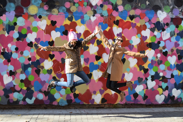 A Day In The Lalz; Travel Blog; NYC; New York City; Street Art NYC; NYC Itinerary; Fun Things to Do in NYC; Heart Wall; 1 St between 1st and 2nd; Love You Wall; Hektad