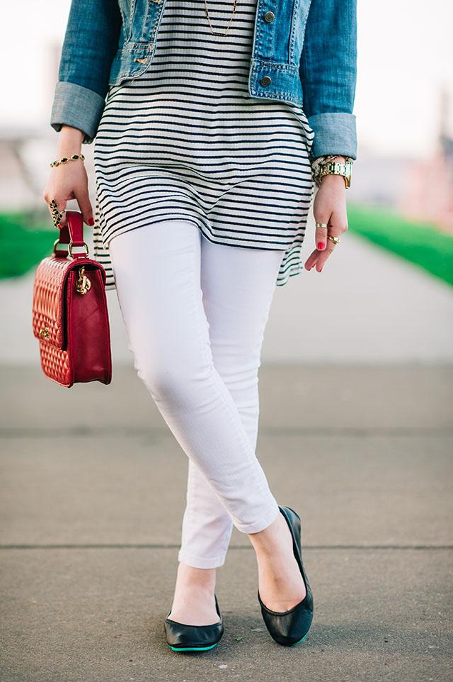 Matte Black Tieks-Stripe Tee-Federal Hill-Baltimore-Hijab Fashion-Fashion Blogger