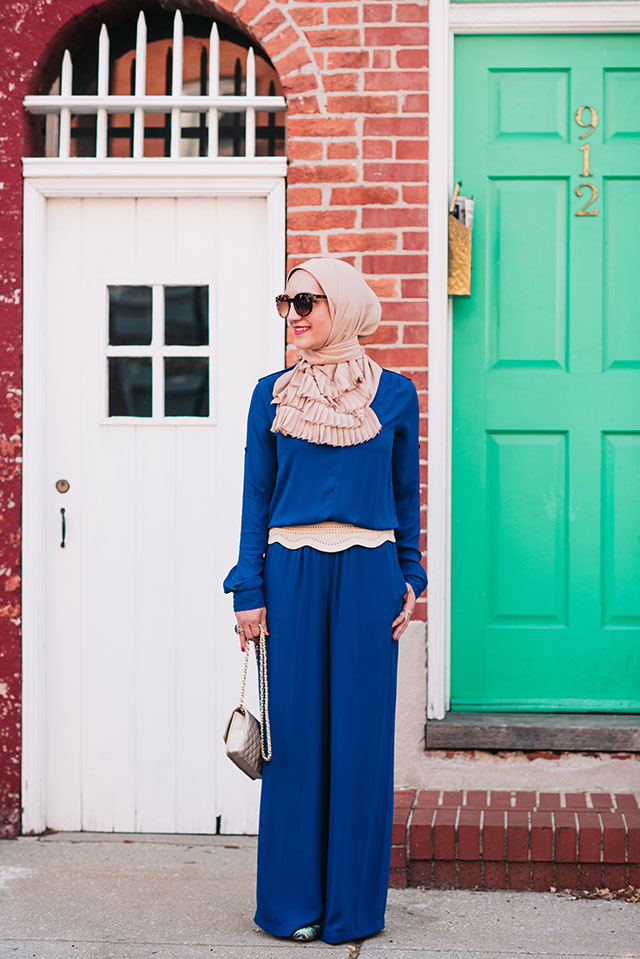 Summer Style-Fashion Blogger-Blue Jumpsuit-Vela Scarves-Fells Point Baltimore-Modest Fashion-Style Blogger-Muslim Blogger-HIjab