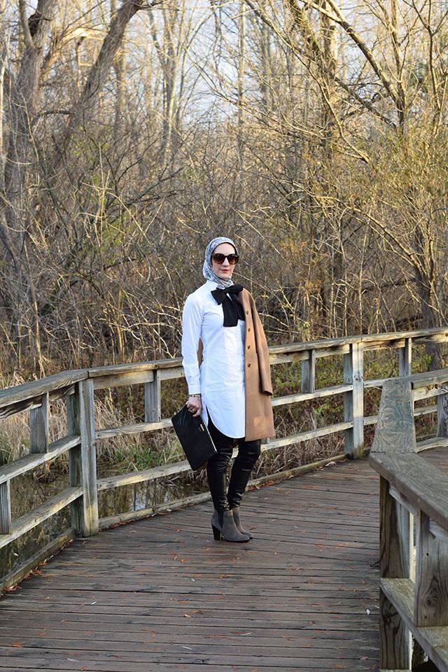VED by Melchior Shirt dress - White shirt dress - Layered look - Bespoke design - Modest Fashion - Fashion Blogger - Tunic Shirt Dress