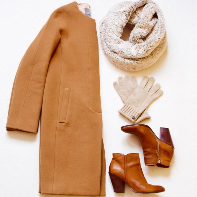 J. Crew Camel Coat