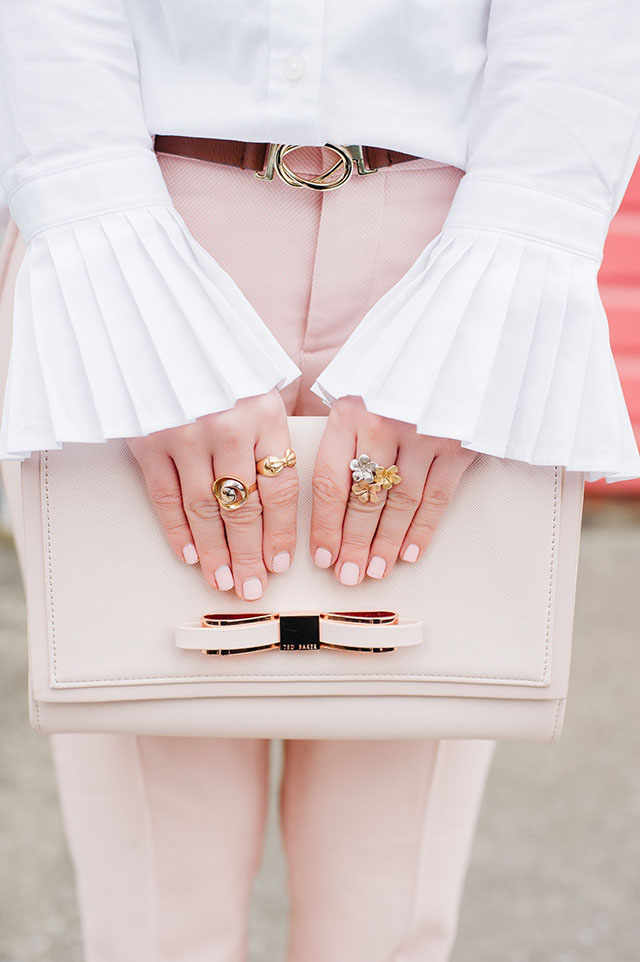 Pink Handbags for Spring - Kate Spade Cobble Hill Mylie - Ted Baker Clutch - Blush - Fashion Blogger - Spring Style