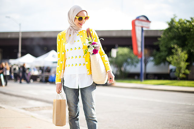 Baltimore Farmer's Market-J.Crew Lemon Print Cardigan-Two Boots Farm-Shop Local-Knopf's Farm on the Shore-The Mushroom Stand-Le MONADE-Things to do in Baltimore-Farmer's Market-Hijabi