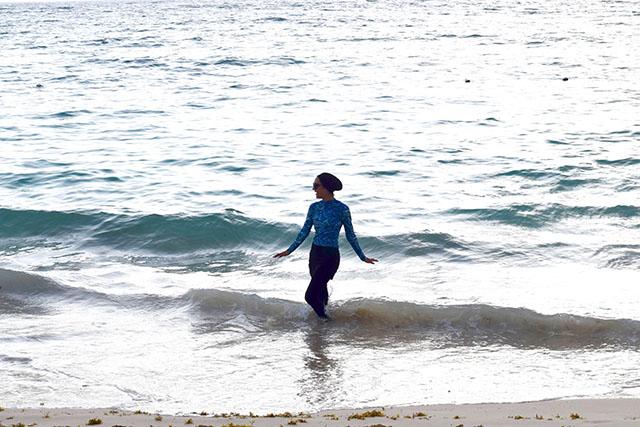Modest Swimwear-Hijabi Swimsuit-Rash Guard-Coolibar-Dominican Republic-Modest Swimming-Modest Fashion