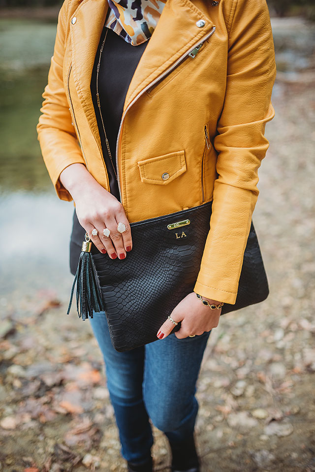 Moto Jacket-Fall Leather Jacket-Black Booties-GiGi NY Blacker Uber Clutch