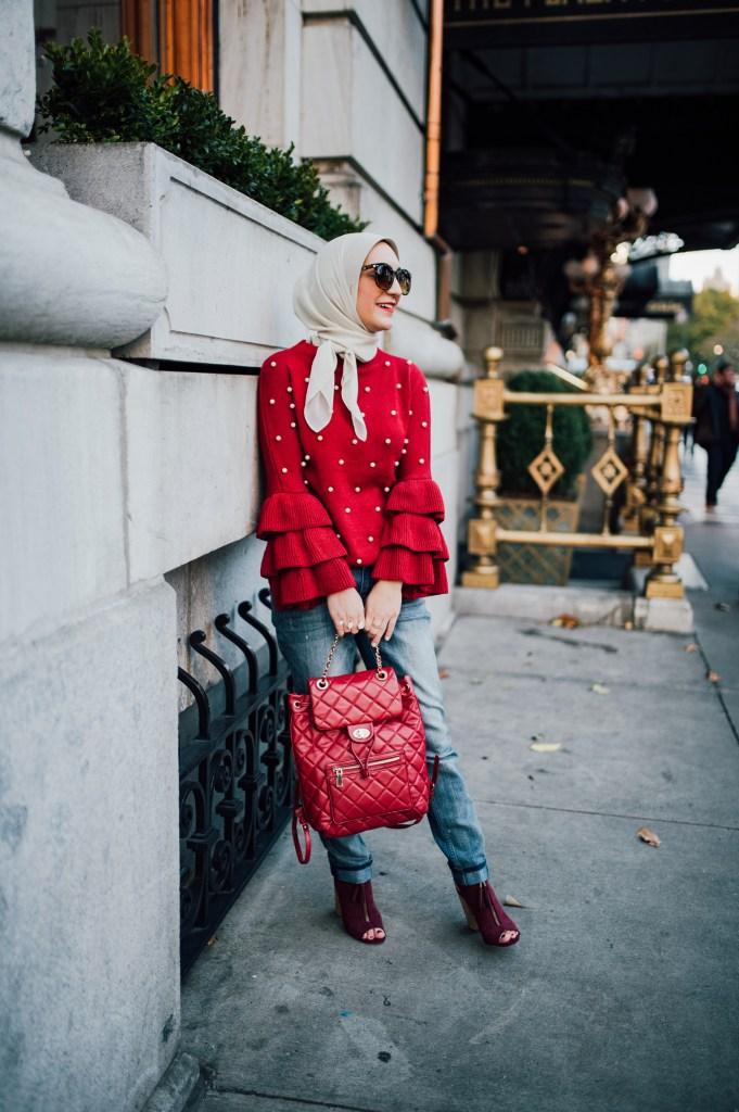 Bordeaux Pearl Sweater