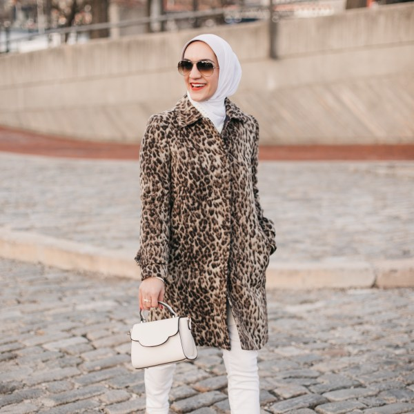 Leopard Coat and White Denim