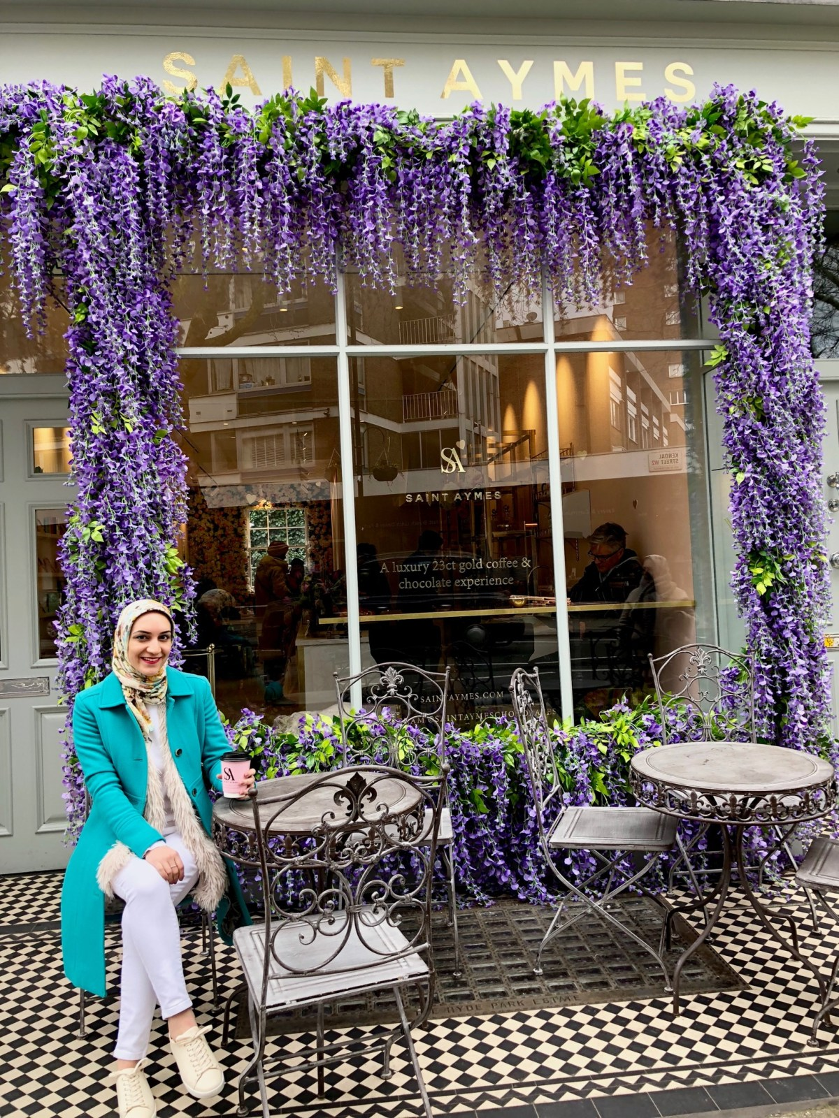 Travel Blog, Instagrammable Cafes in London, A Day In The Lalz, Saint Aymes
