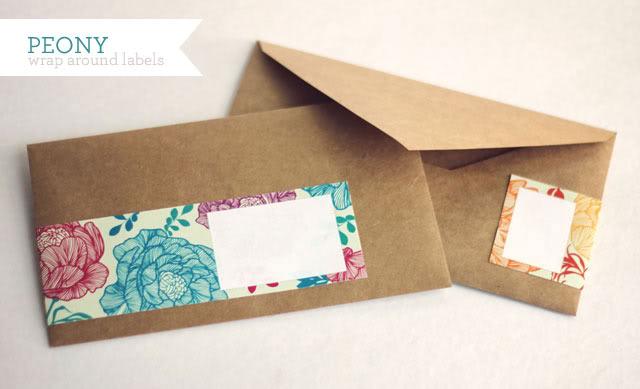 Peony wrap around labels from How Joyful