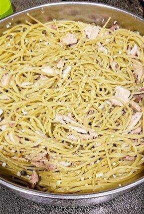 One Pot Parmesan Lemon Sardine Pasta