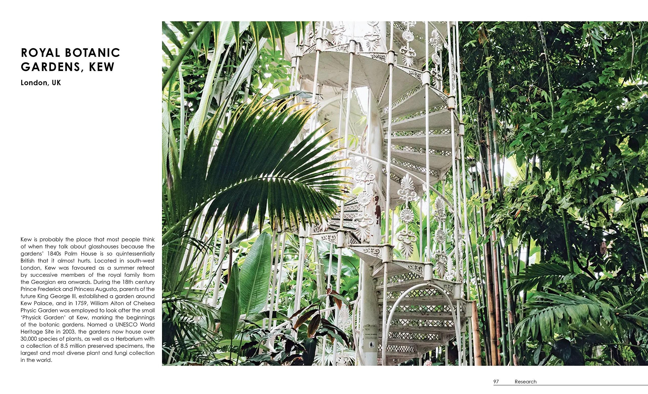 spiral white stairs greenhouse kew gardens