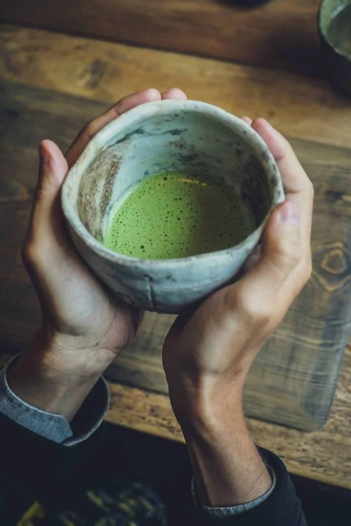 matcha tea or coffee adayofzen