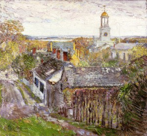 Quincy MA Oil Painting - Frederick Childe Hassam