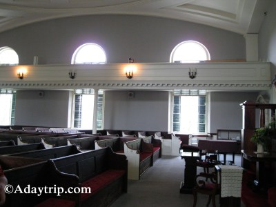 Inside of the Church of the Presidents in Quincy, MA
