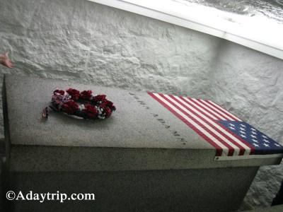 John Adams Tomb below the Church in Quincy, MA
