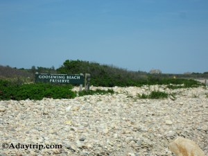 Goosewing Beach Preserve Signage