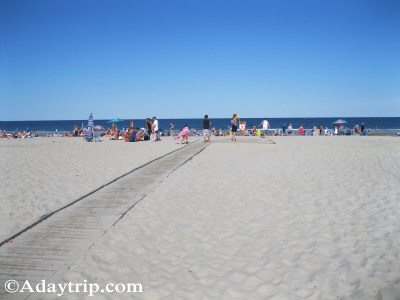 Hampton Beach near the hotels