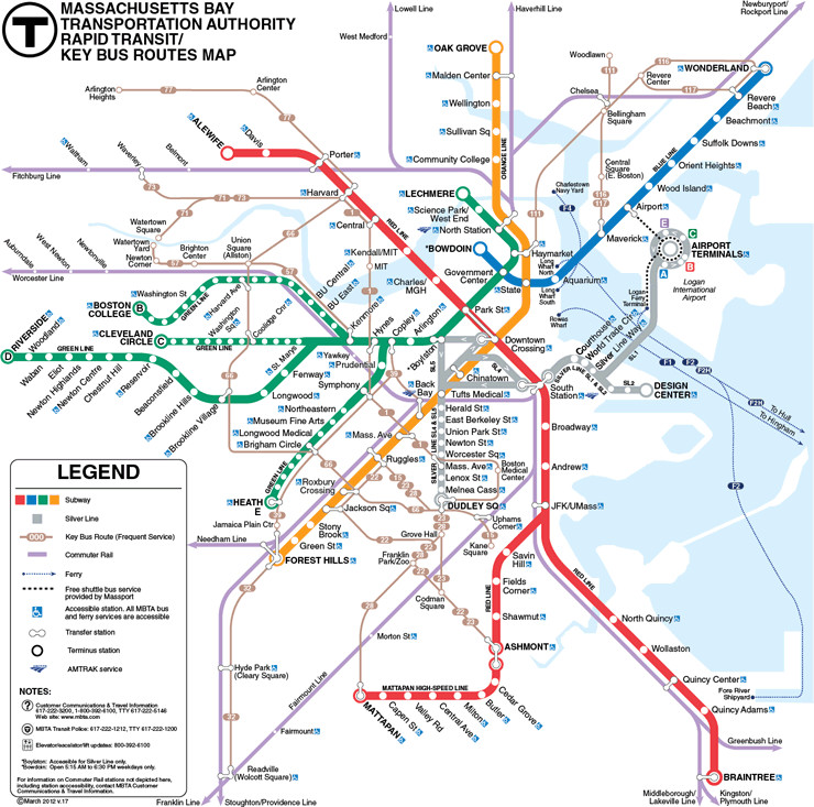 subway map boston ma The Complete Guide To Navigating Boston S Mbta Subway System Like