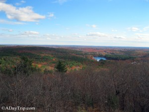 A view of Blue Hills Reservation from the top